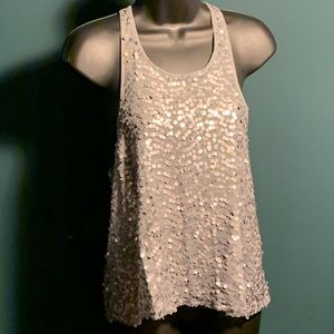 "NWOT Free Ppl ""Intimately"" grey sequin tank (5/$95"